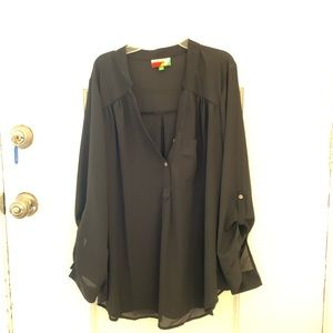 Black loose fighting blouse(never worn)